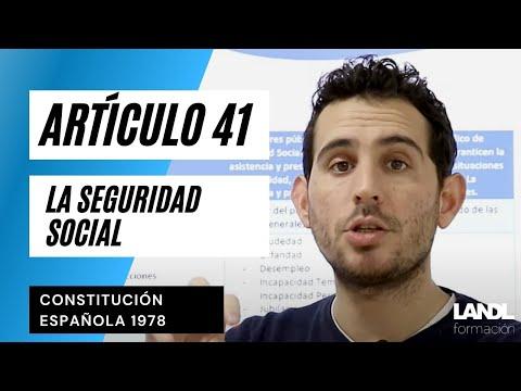 Artículo 41 Constitución Española. La Seguridad Social.