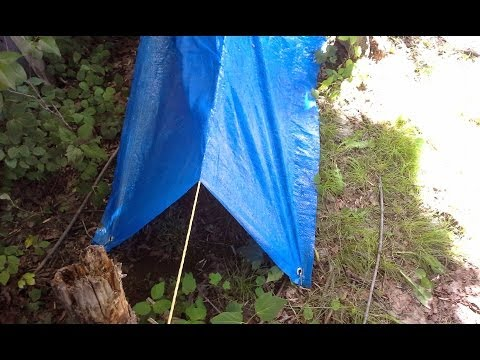 Cheap $1 Tarp Bug Out Tarp Review- Can A Dollar Store Tarp Hold Up In SHTF?