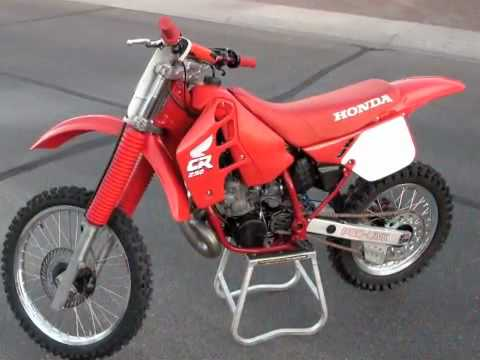 1988 Honda CR250 Rebuilt and back from the DEAD!!! - YouTube
