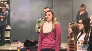 Sailor Surprises Daughter at Glenwood Middle School