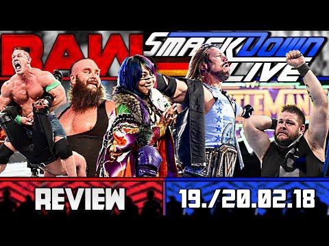 WWE RAW vs. SmackDown Review - GLANZLEISTUNG - 19./20.02.18 (Deutsch/German)