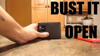 Opening Western Digital My Passport Ultra 1TB USB 3.0 External Hard Drive