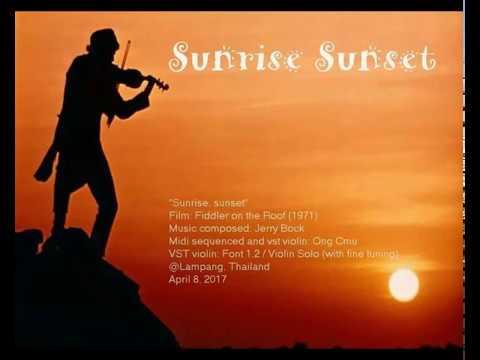 Fiddler On The Roof 1971 Sunrise Sunset On The Vst
