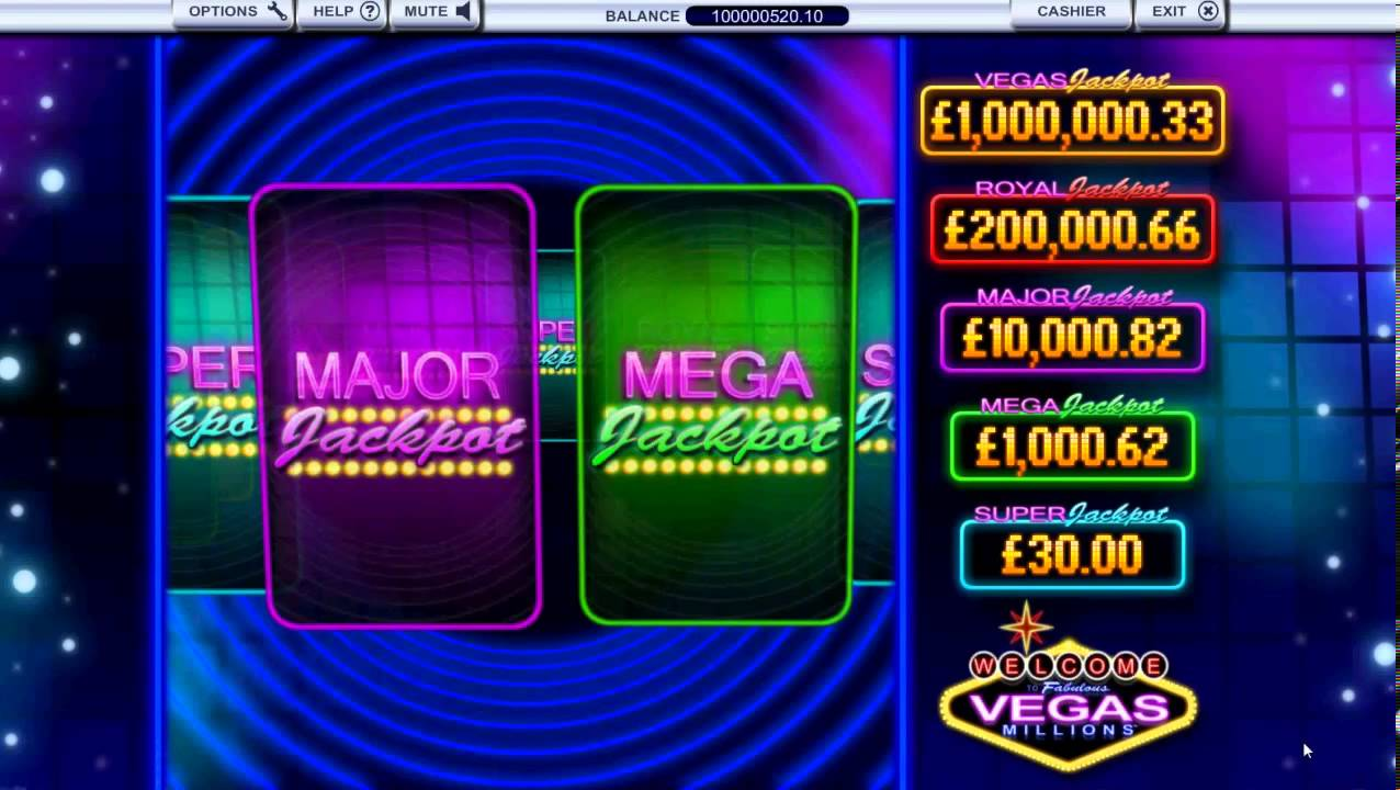 VEGAS MILLIONS - How to win £1 MILLION playing online slots [HD 720p]