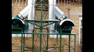 Труба дымовая с дымососом(Монтаж дымовых труб на твердотопливные котлы. http://teplostar.kiev.ua/, 2014-02-17T15:04:34.000Z)