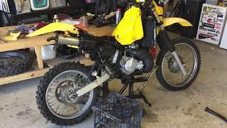 Suzuki TS200R 1990 first start after rebuild
