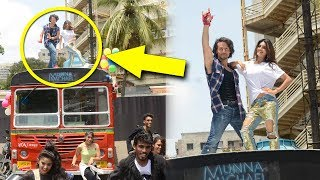 Tiger Shroff's Amazing Dance With Nidhhi Agerwal On A BUS