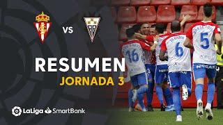 Resumen de Real Sporting vs Albacete BP (2-0)