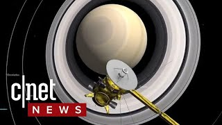 Cassini creeps closer to crash landing on Saturn (CNET News)
