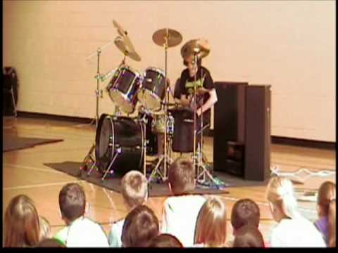 Dyers Eve Metallica Cover - Grayson DeBoard Winning Talent Show Performance 2010