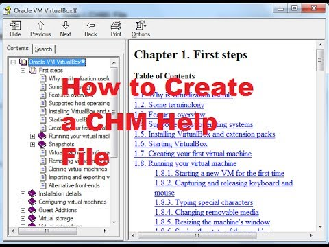How To Create A CHM Or Compiled HTML Help (.CHM)  File