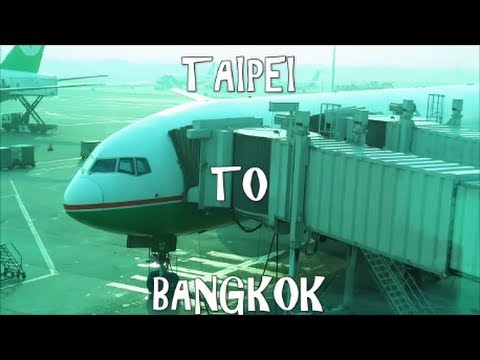 EVA Air 777-300ER Taipei to Bangkok Economy Cl Flight Review