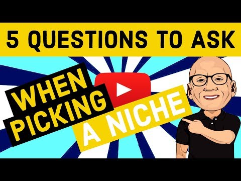 How to Pick a Niche - 5 Crucial Questions - IMPORTANT!!