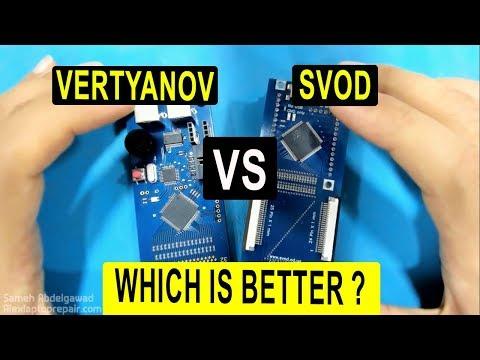 SVOD vs Vertyanov Programmer مقارنة بين دوائر شحن الاي او
