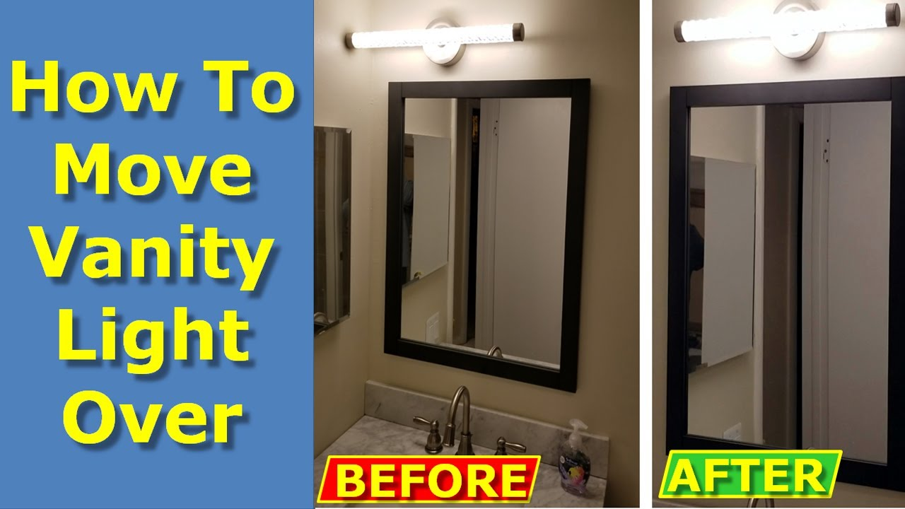Bathroom Electrical Outlet How To Move Off Center Vanity Light Over On Bathroom Wall