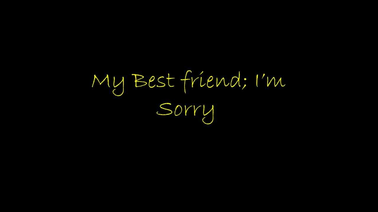 My Best Friend; I'm Sorry - Jon Chorley Poetry - YouTube