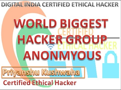 WORLD BIGEST HACKER GROUP (ANONMYOUS)