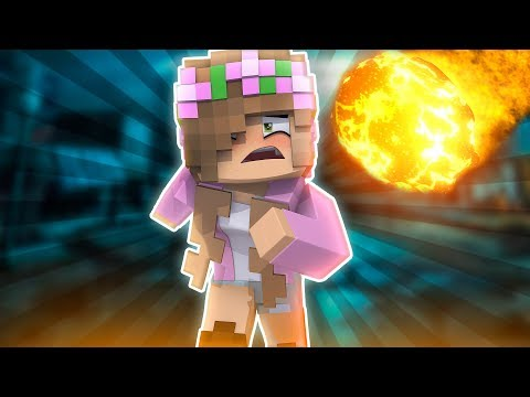 ESCAPING THE METEORS! Minecraft Little Kelly