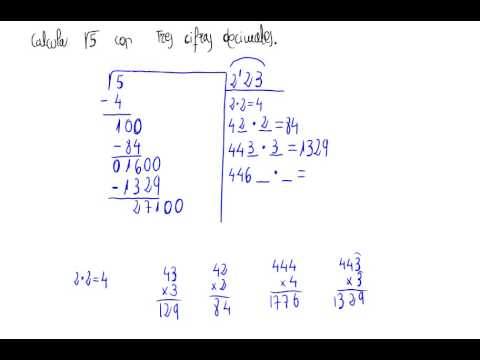 Raíz cuadrada con cifras decimales - YouTube
