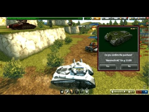 Tanki Online   Buying Mammoth M2 And Gameplay With Twins