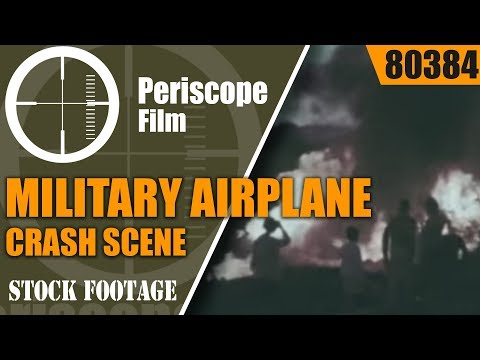 MILITARY AIRPLANE CRASH SCENE SECURITY & CIVIL AUTHORITIES  80384