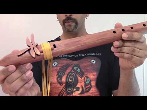 How to play Amazing Grace on Native American Flute - JD Flutes - Bass D 432 Hz