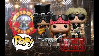 FUNKO POP GUNS N ROSES AXL ROSE ,SLASH AND DUFF ROCK POP REVIEW OUT THE BOX #GUNSNROSES