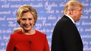 Presidential debate highlights: Clinton and Trump trade blows - video