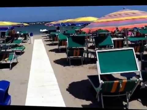 Cesantico gatteo a mare bagno roberto plaża. youtube