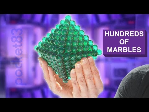 Marble fusion: GIANT octahedron (how to epoxy-solder marbles)