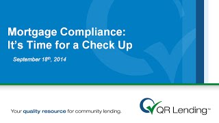 mortgage compliance training