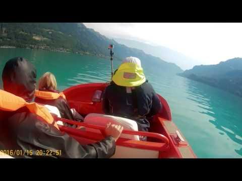 Jetboat  - Lake Brienzersee, Interlaken, Switzerland part1  19th July 2017