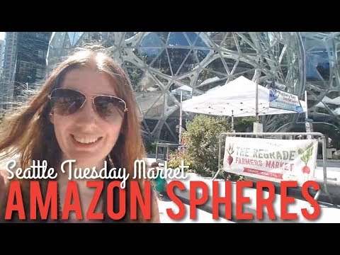 The Regrade Farmers Market At Amazon Spheres In Seattle - LIVE!