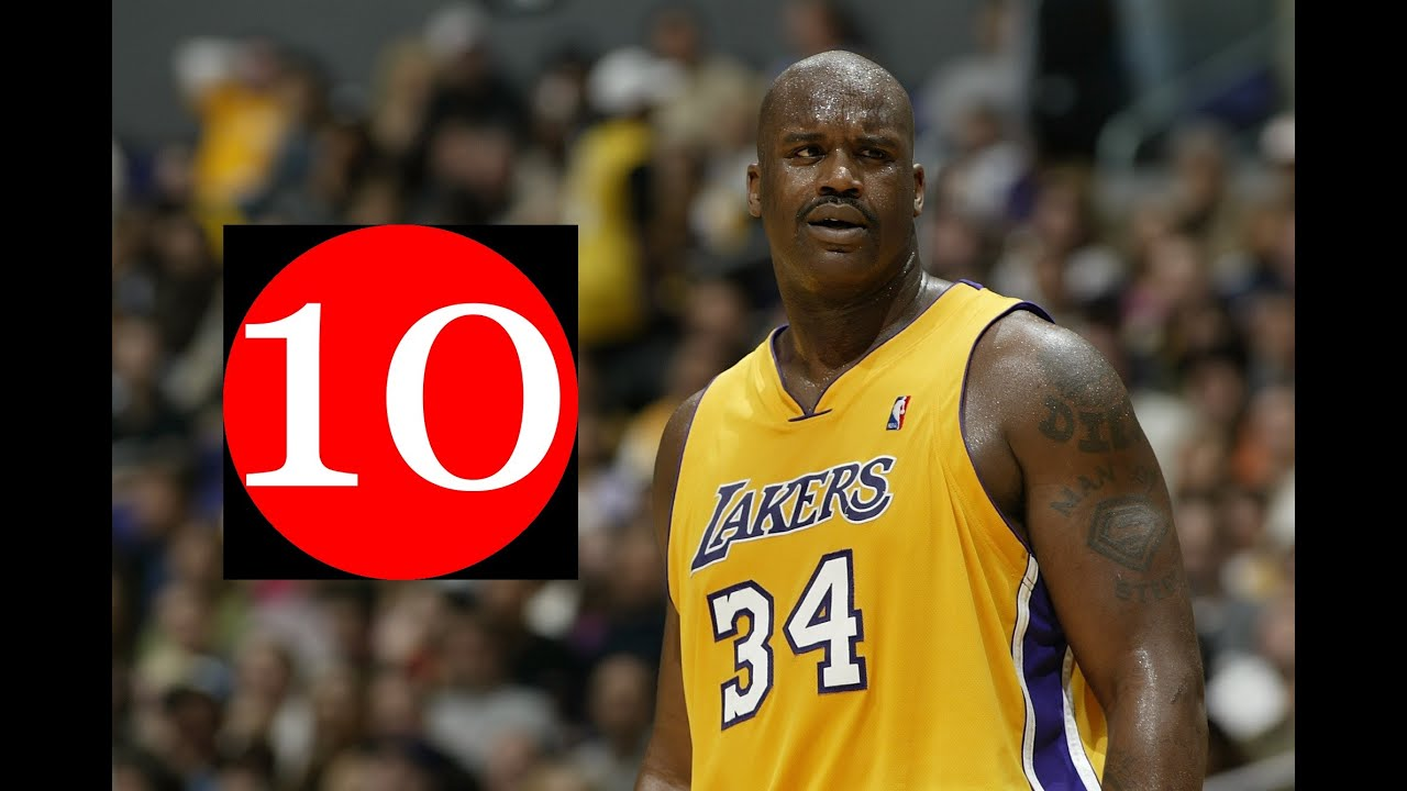 shaquille o 39 neal top 10 plays of career with los angeles. Black Bedroom Furniture Sets. Home Design Ideas