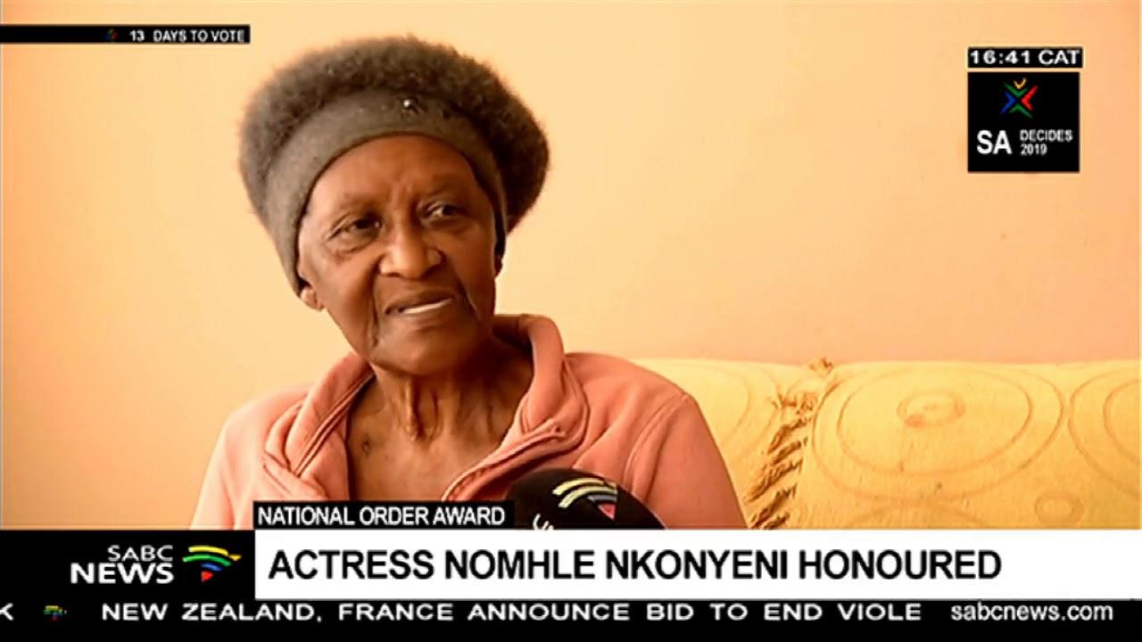 Renowned actress Nomhle Nkonyeni honoured