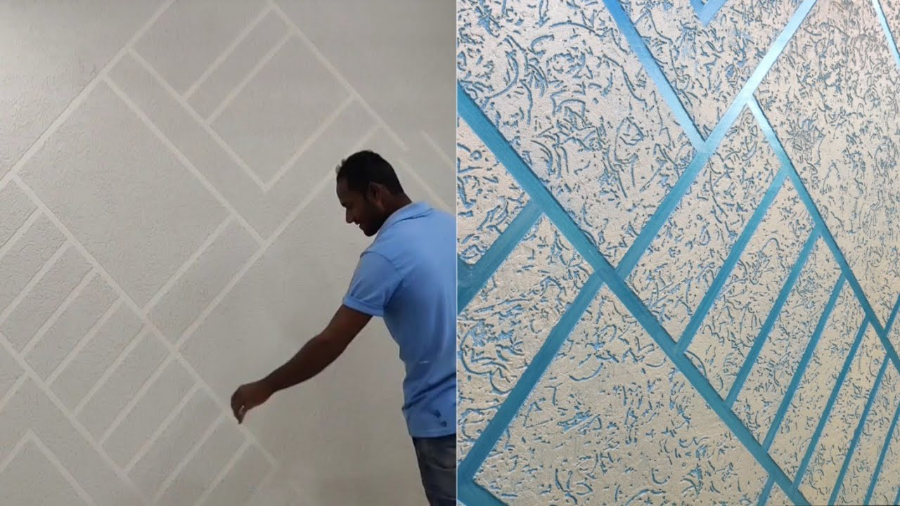 Wall texture Design Masking tape and rustic special effect