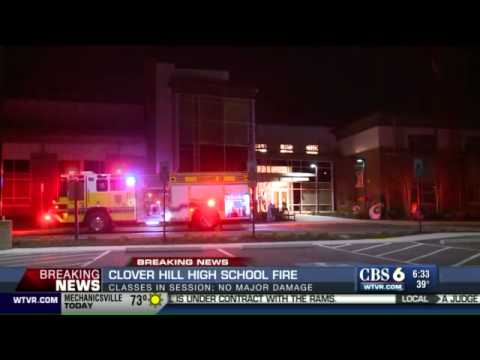 WATCH: Classes in session today at Clover Hill High School despite late night fire