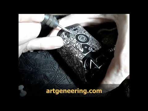 DIY Engraving a Box Mod by hand 3