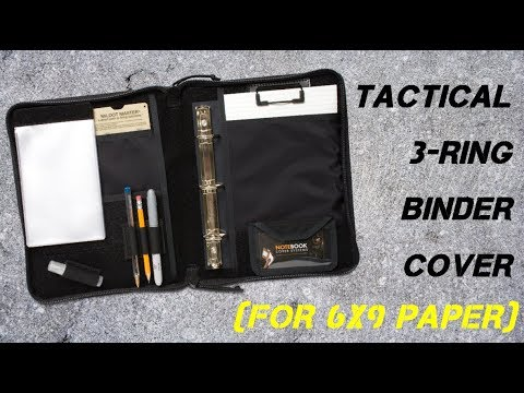 Tactical 3-Ring Binder Cover System (For 6x9 paper) - YouTube