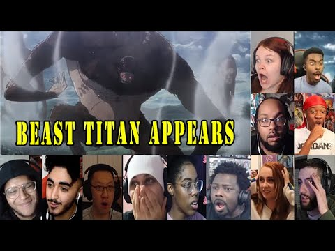 Fans React To Beast Titan Appears, Attack On Titan Season 3 Part 2 Episode 1 Reaction Mashup