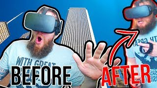 FALLING Off A BUILDING In VIRTUAL REALITY!  Facing My Darkest Fear..AGAIN! Richie