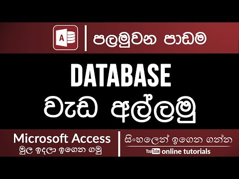 Microsoft Access Beginner Course (Sinhala) - Part 01 - Getting Started with Access