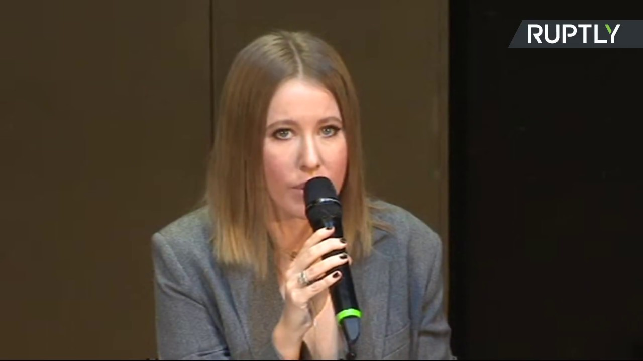 Пресс-конференция Ксении Собчак