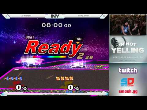 INY Day 2 - Singles: Top 8 - Winner Semis: C9 Mang0 (Falco) vs TSM|Leffen (Fox)