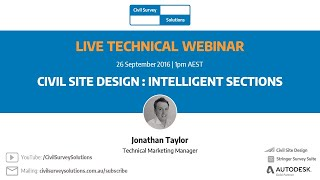 Civil Site Design - Webcast - Intelligent Sections (Conditional Design)