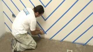 How to paint chevrons on your walls.