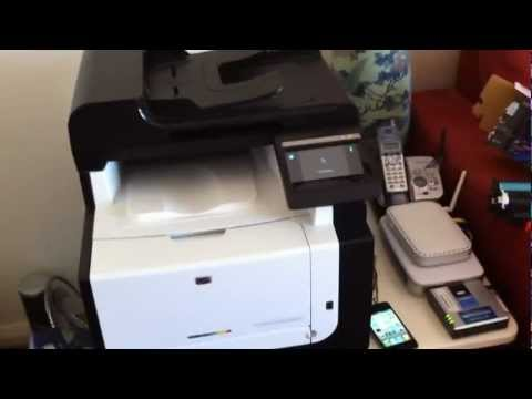 Installing Ink Into An Hp Colour Laserjet Pro CM1415FN Printer