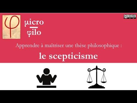 micro-philo : le scepticisme