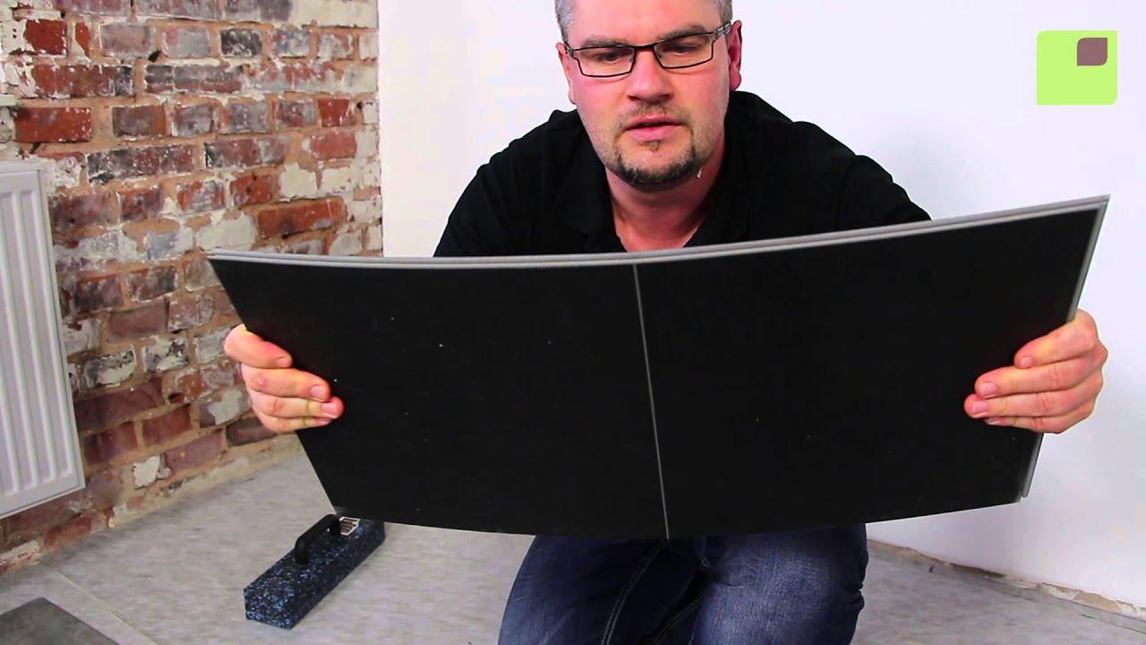 klick vinylboden in betonoptik youtube. Black Bedroom Furniture Sets. Home Design Ideas