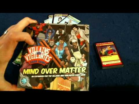 Bower's Game Corner: Villains and Vigilantes Card Game: Mind over Matter  Review